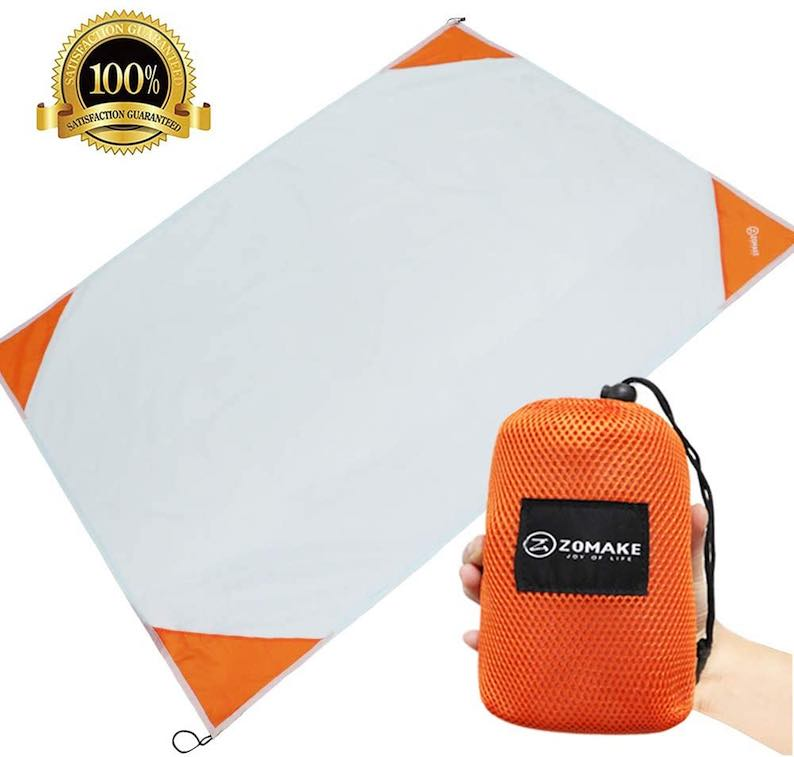 Compact Beach Blanket Sand Proof and Water Resistant