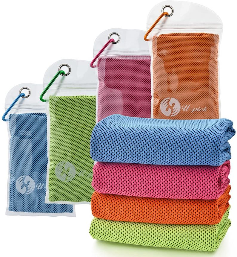4 Packs Cooling Towel (40″x 12″), Ice Towel,Microfiber Towel