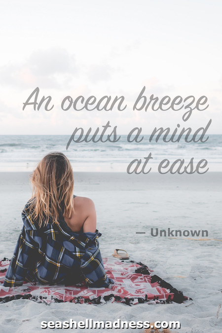 Beach Quote: An ocean breeze puts a mind at ease