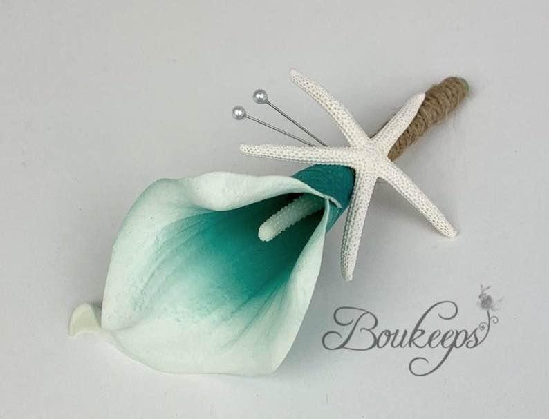 Calla Lily & Starfish Boutonniere