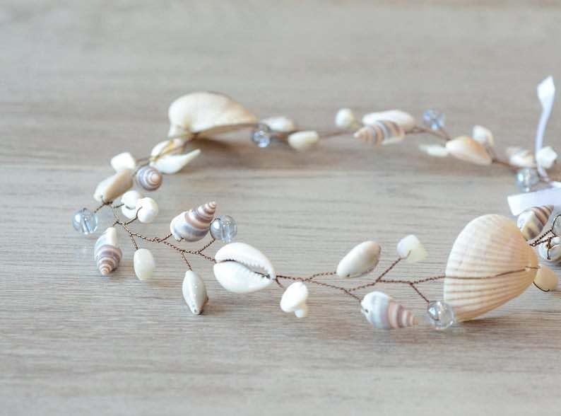 Seashell Crown Beach Wedding Headband