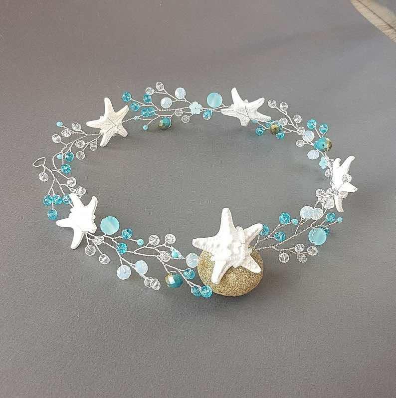 Beach Wedding Starfish Headpiece