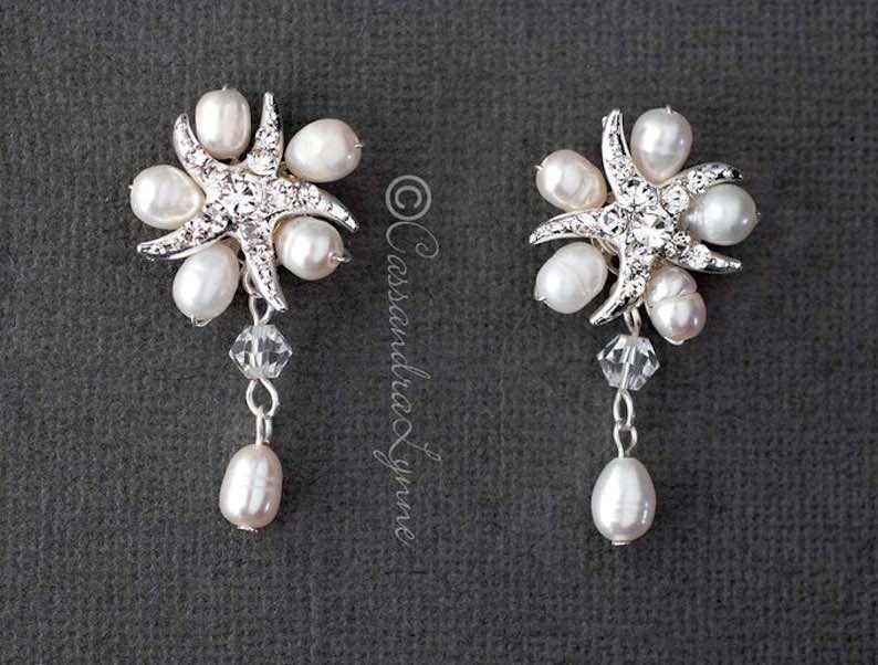 Starfish & Freshwater Pearls Earring