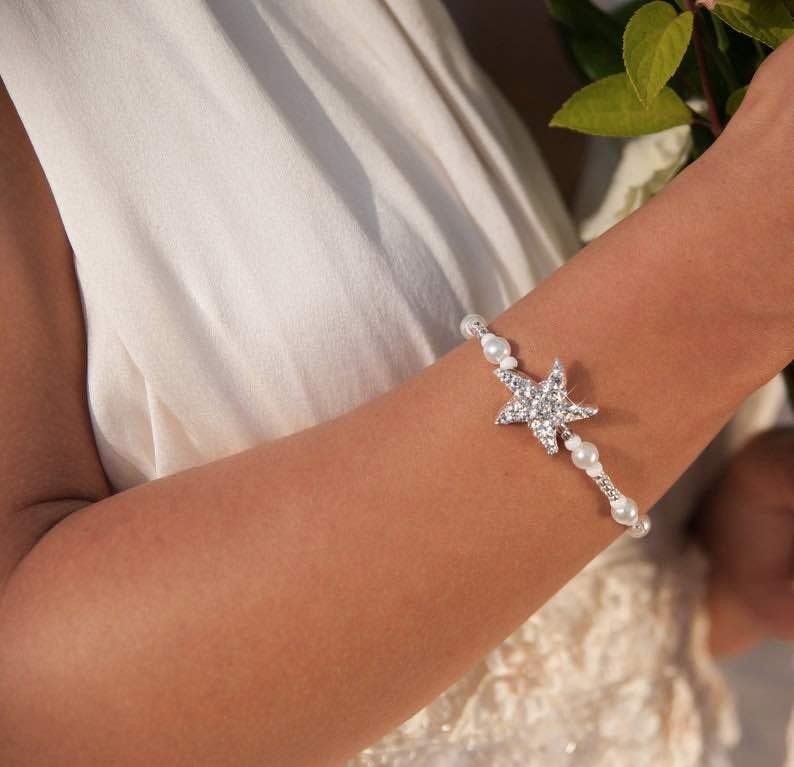 Starfish Beach Wedding Bracelet