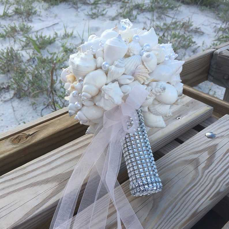 Seashell Beach Wedding Bouquet