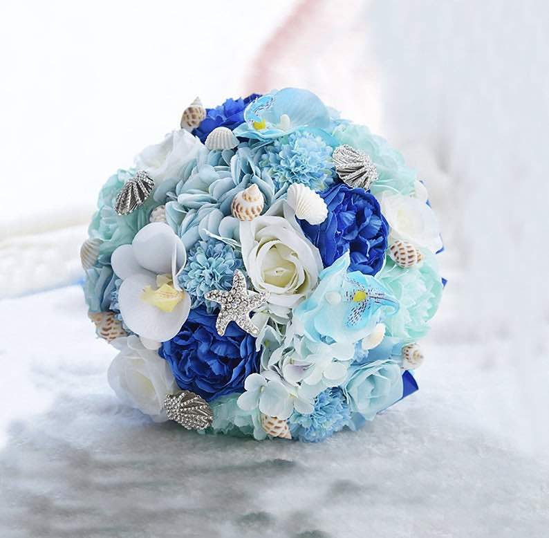 Seashells, Starfish & Flowers Bouquet