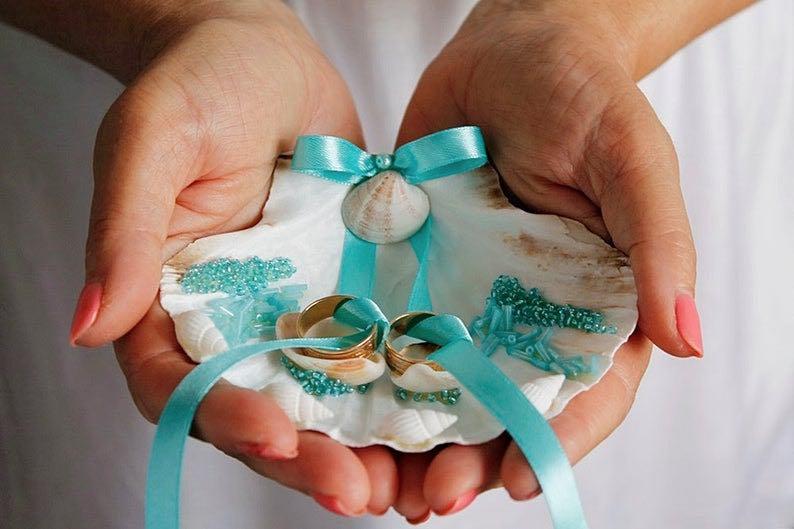 Seashell Turquoise Ring Bearer Shell