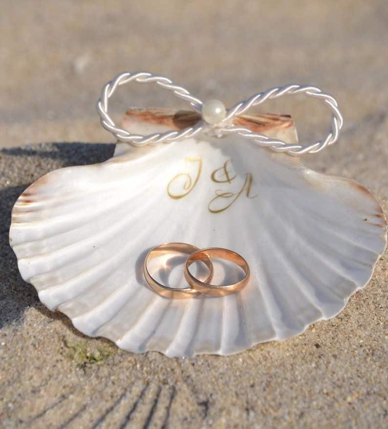 Personalized Seashell Ring Dish