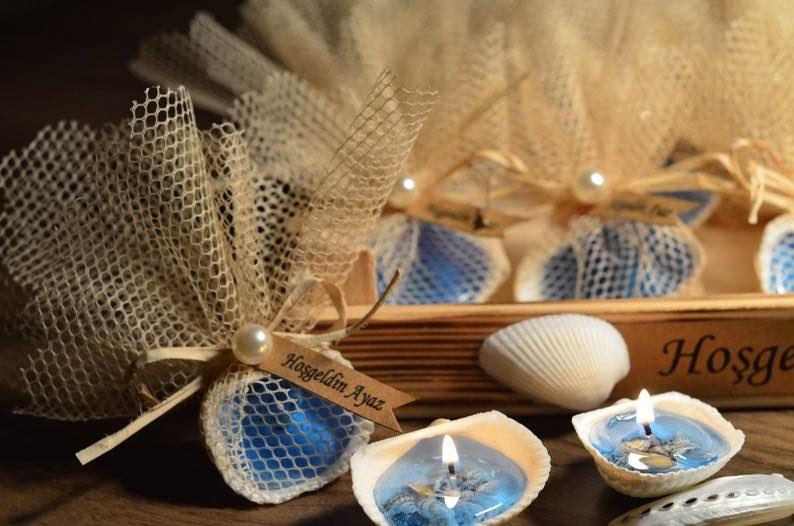 Seashell Candle Wedding Favors