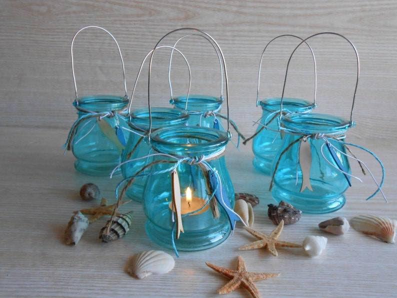Beach Wedding Candle Holders