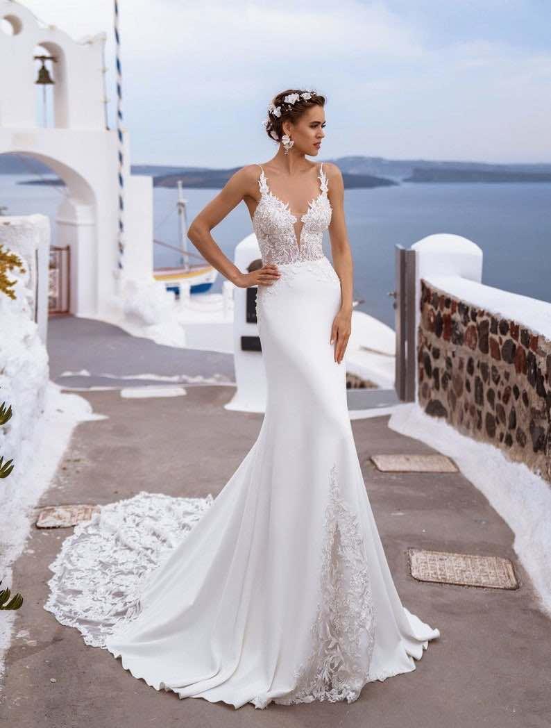 Beach Wedding Open Back Bridal Gown