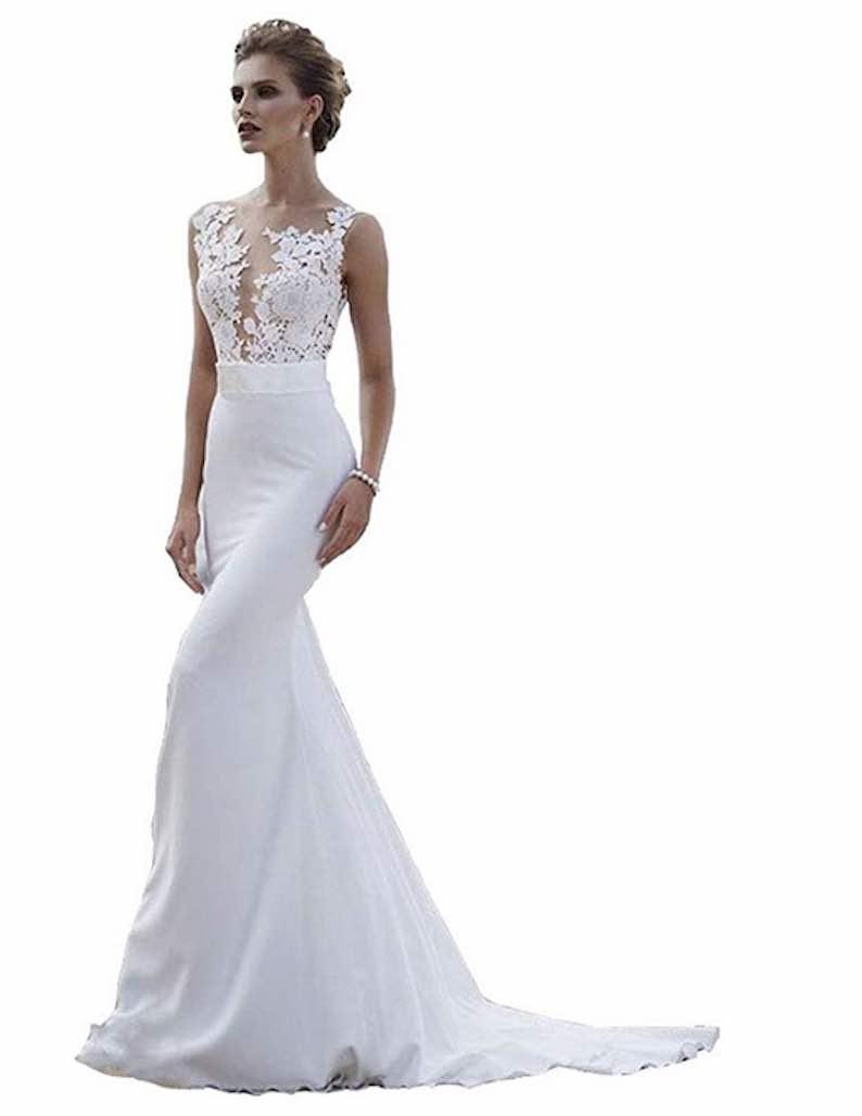 Boho Mermaid Wedding Gown