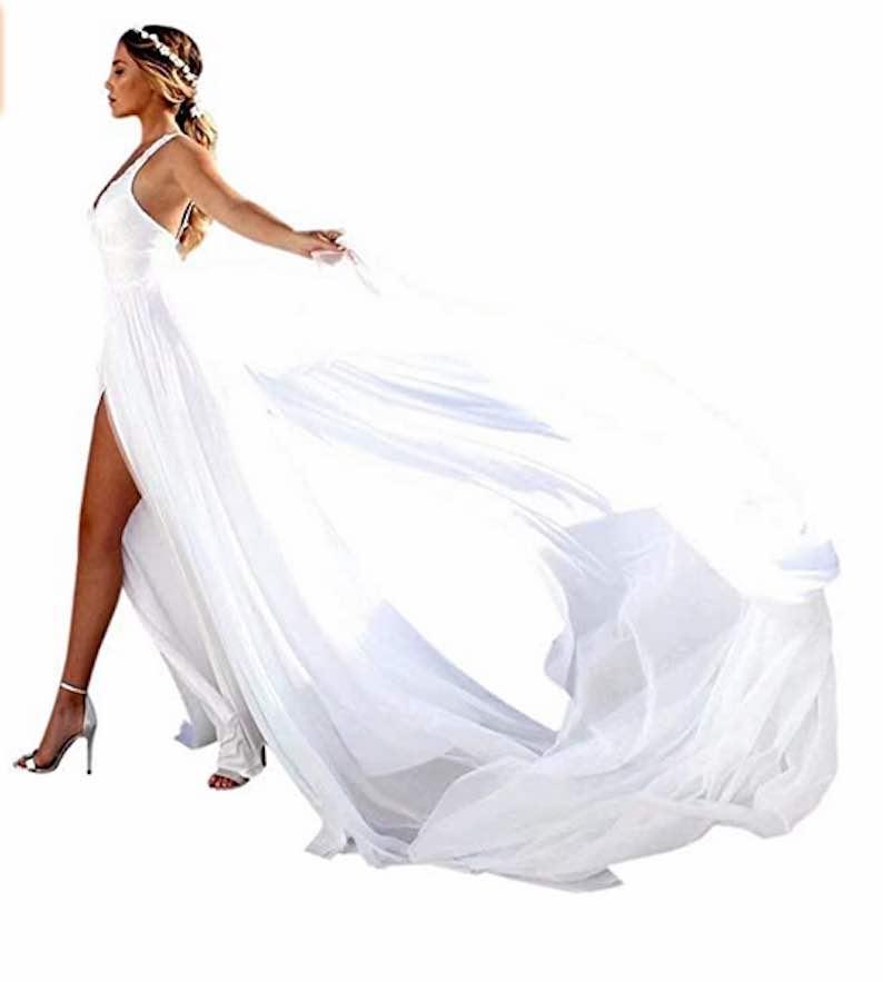Spaghetti Strap Boho Bride Dress