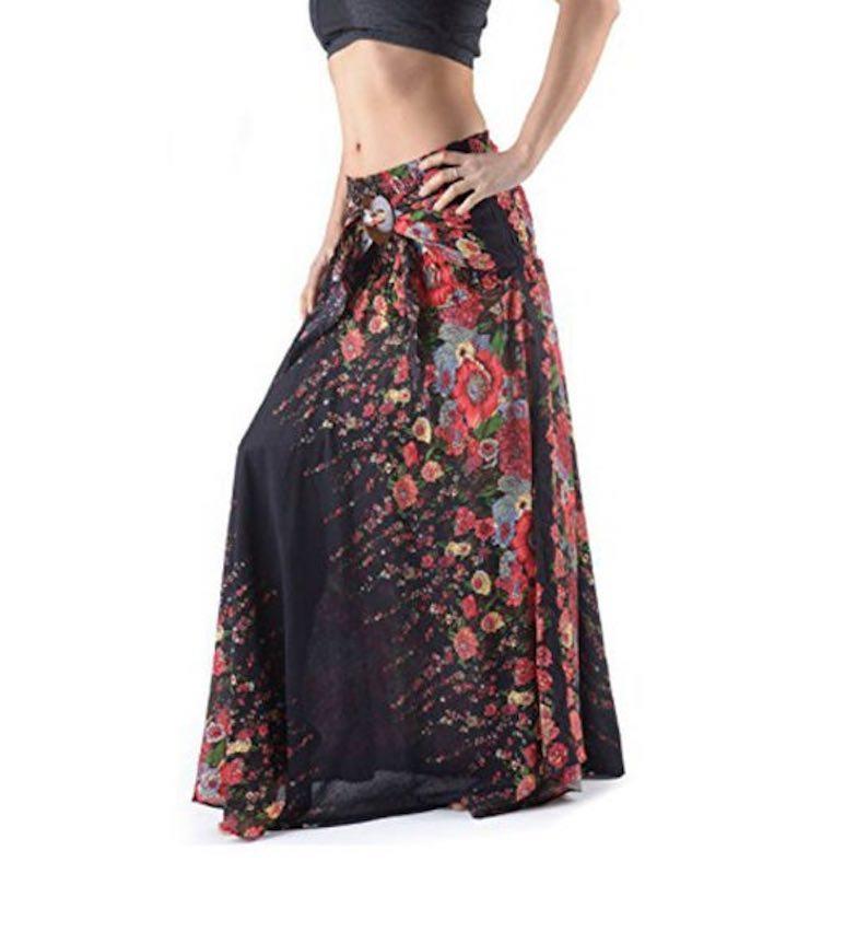 Long Hippie Flower Skirt by Foutaz