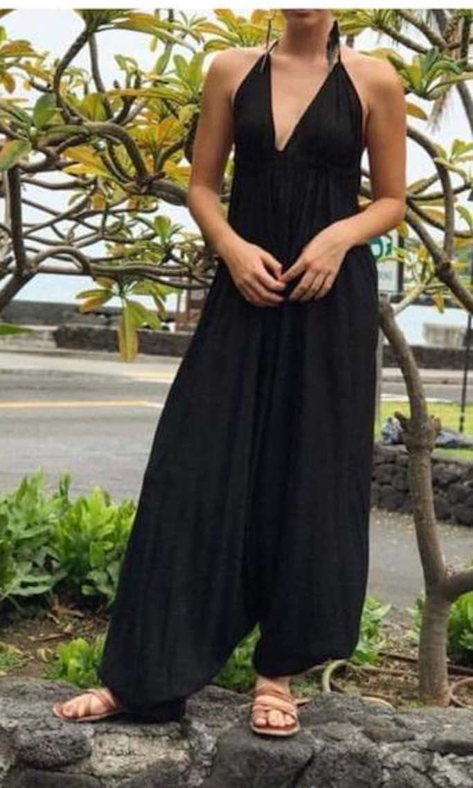 Boho Dress Jumpsuit by Foutaz<