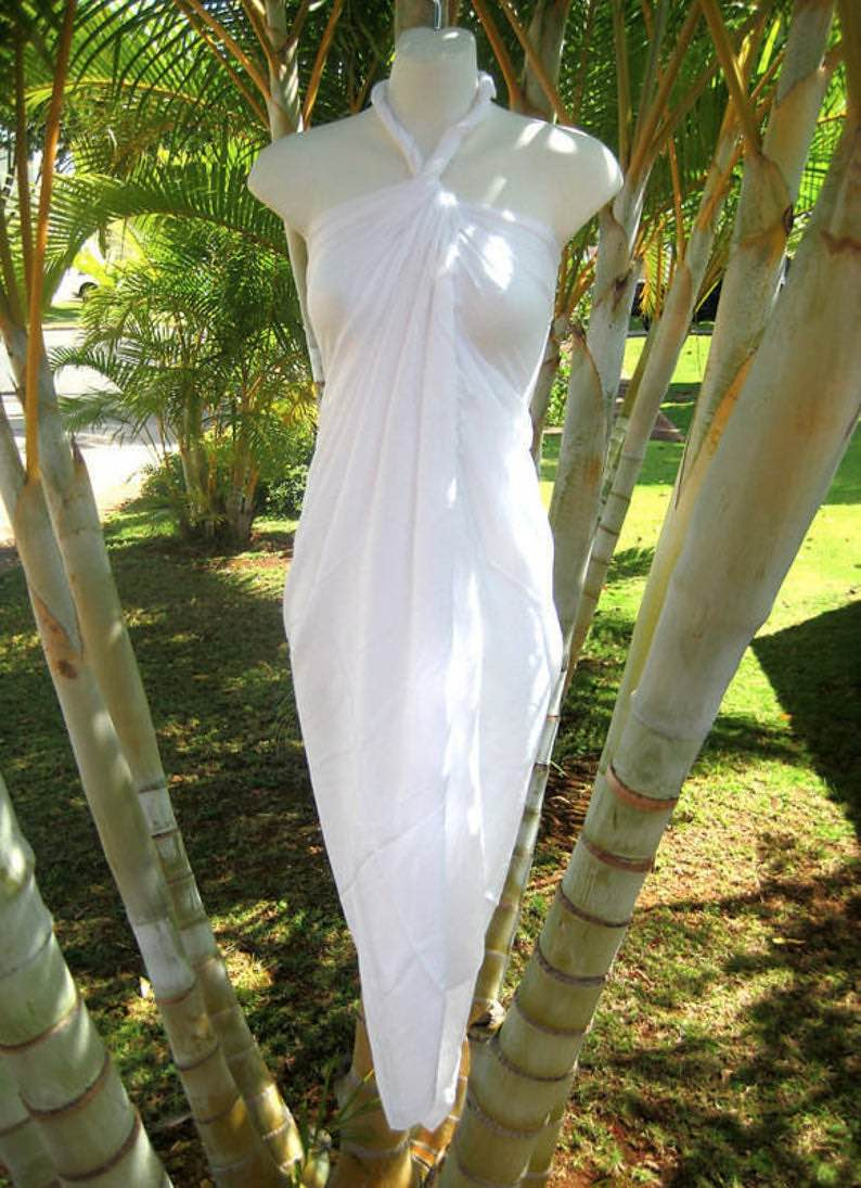 Solid White Sarong by Laniakea Shop
