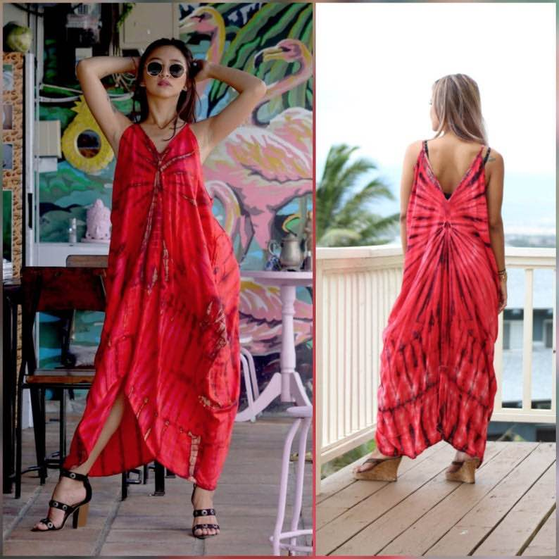 High-Low Tie-Dye Dress by Primitive Vibes Hawaii