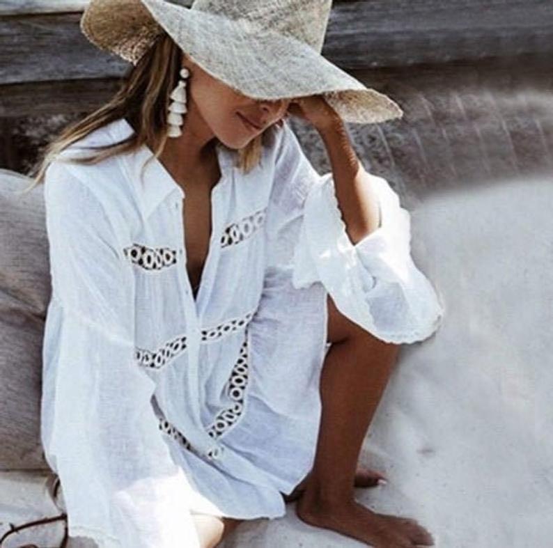 Crochet Coverup Boho Lace Dress by Gotazul