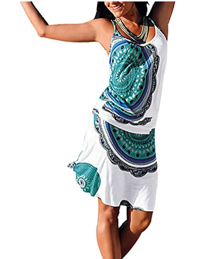 Casual Strappy Midi Beach Dress by Justfitsu