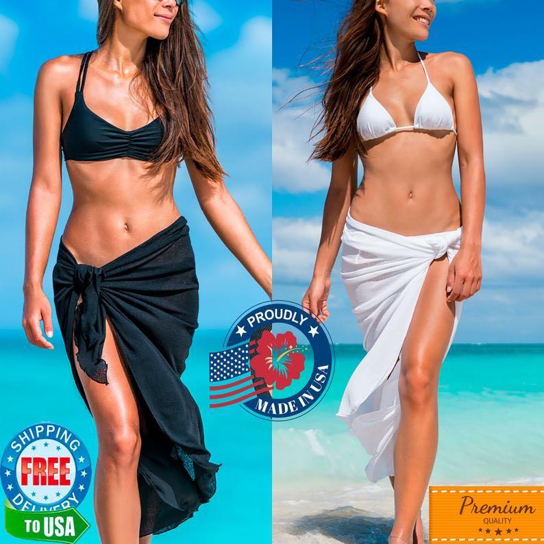 Extra Long Sarong Chiffon Wrap by Coqueta Swimwear
