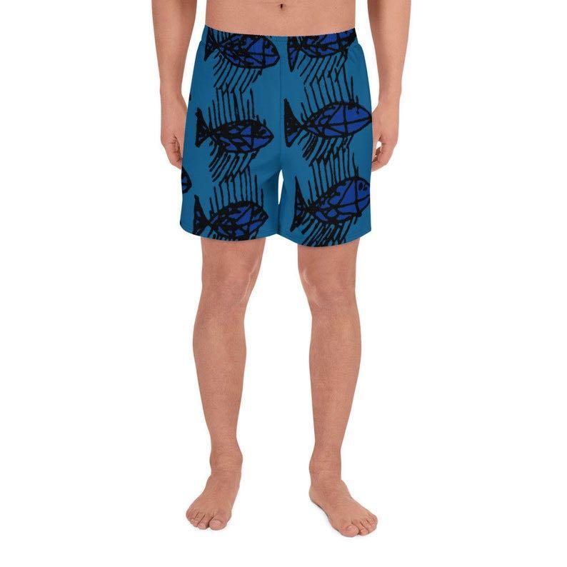 Fish Print Board shorts