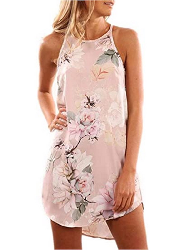 Sleeveless Floral Mini Dress by Fronage