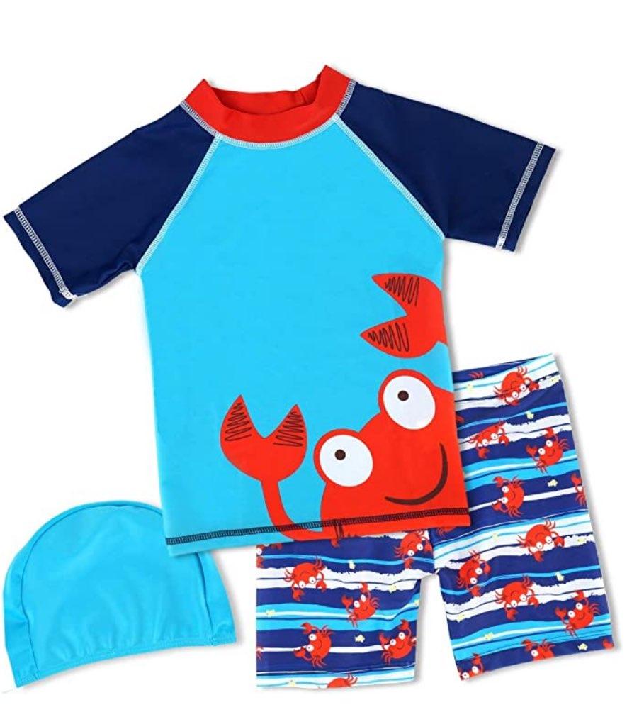 Boys 2-10T Happy Crab Swimwear