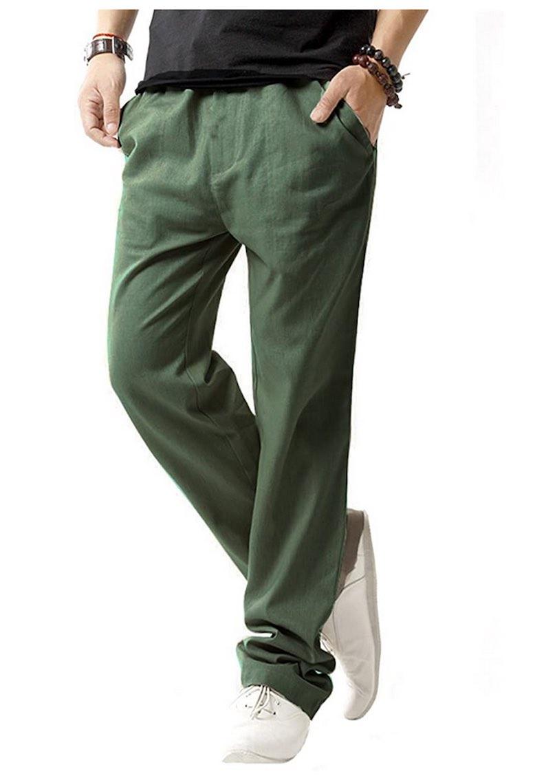 Linen Casual  Drawstring Summer Beach Pants