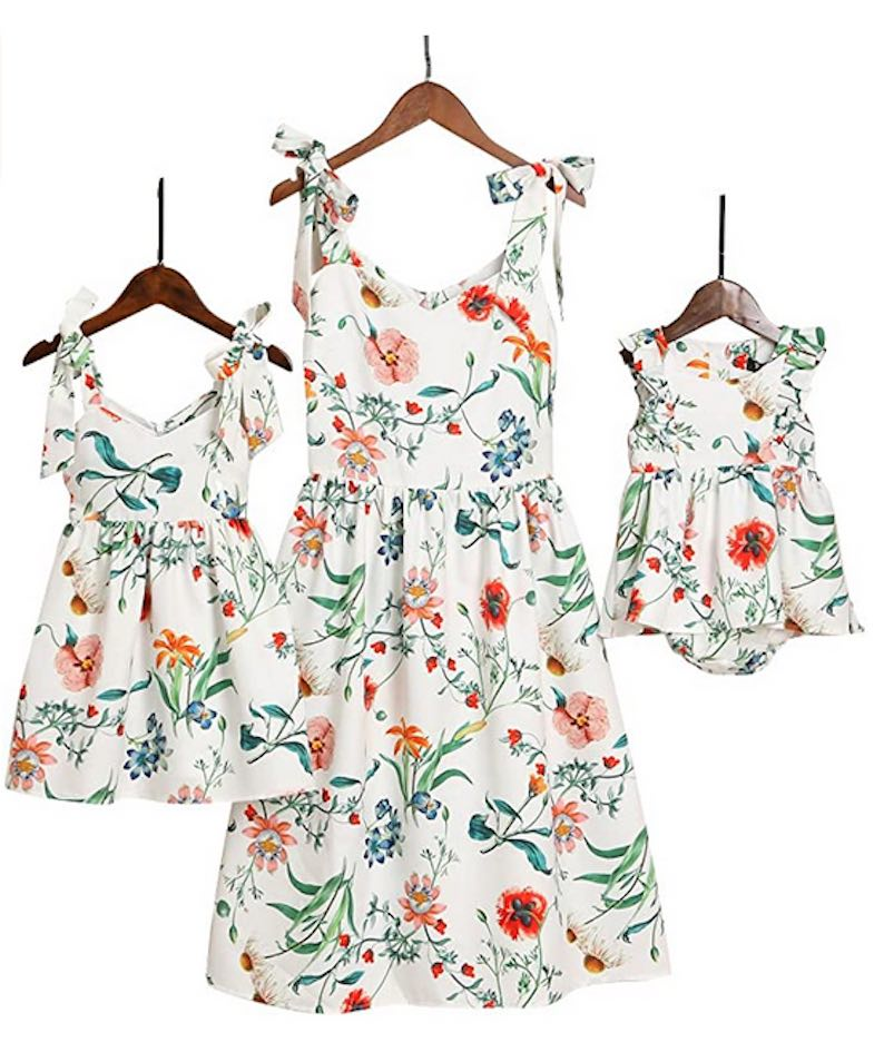 Mommy and Me Floral Printed Dresses