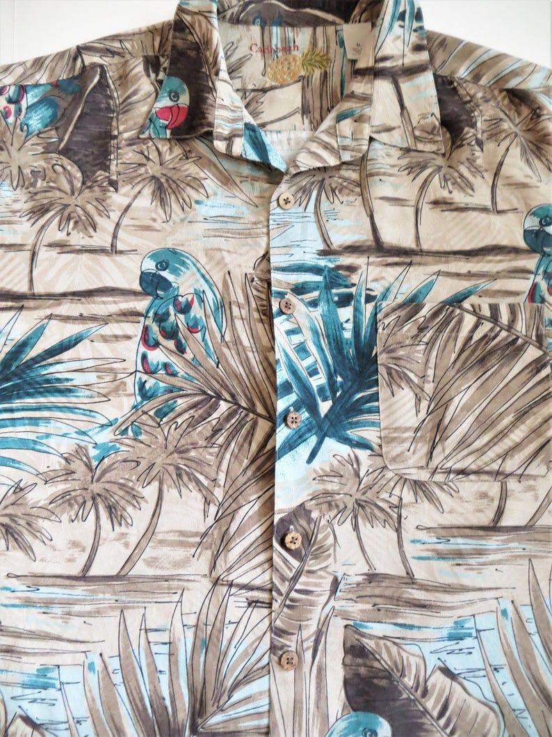 Parrots & Palm Trees Hawaiian Shirt