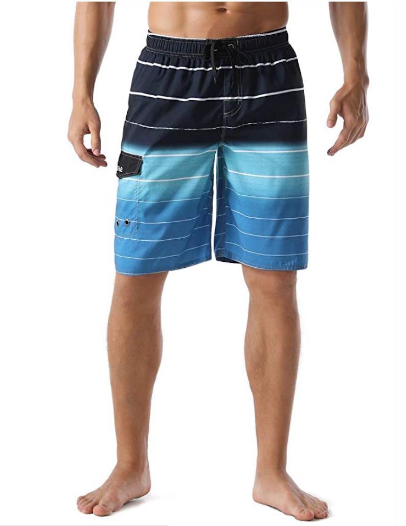 Summer Holiday Striped Swim Trunks