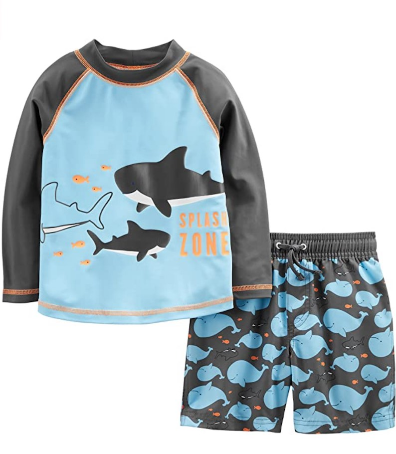 Baby and Toddler Boys' 2-Piece Swimsuit Trunk