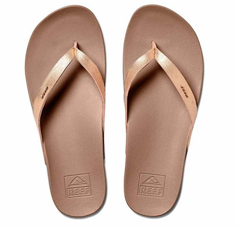 Women's sandals with Vegan Leather Flip Flop Straps by Reef