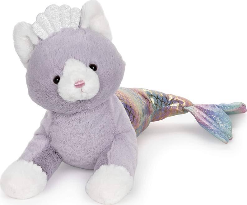 GUND Cat Mermaid with Rainbow Iridescent Tail