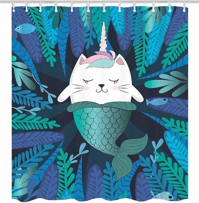 Cat Unicorn Mermaid Underwater