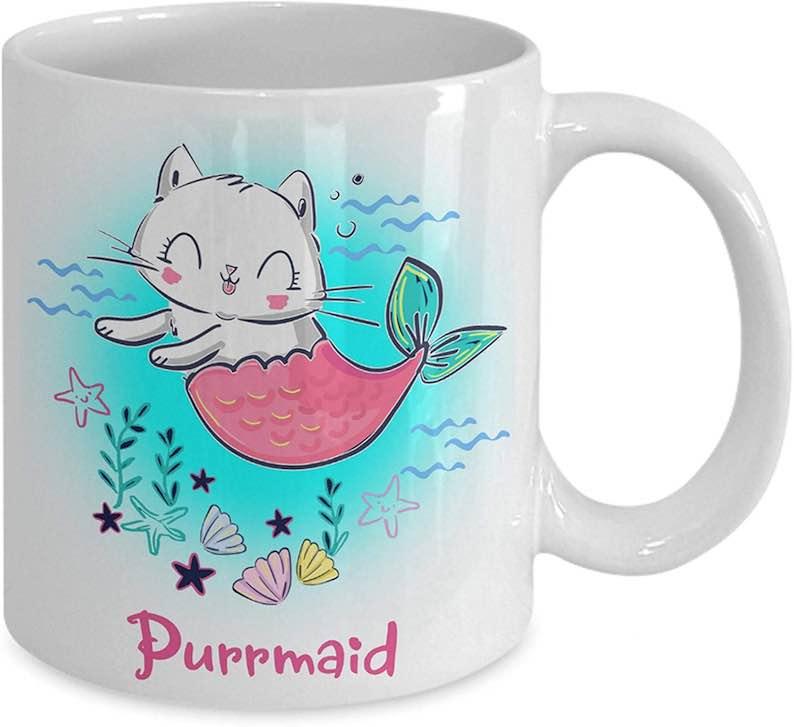 Mermaid Cat Purrmaid Coffee Mug
