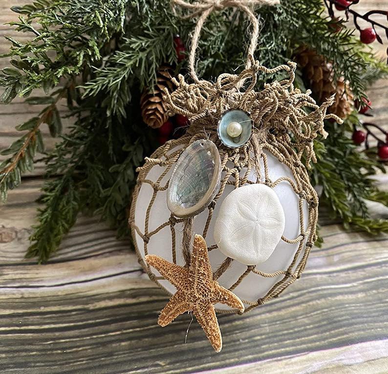 Coastal Beach Theme Christmas Ornament