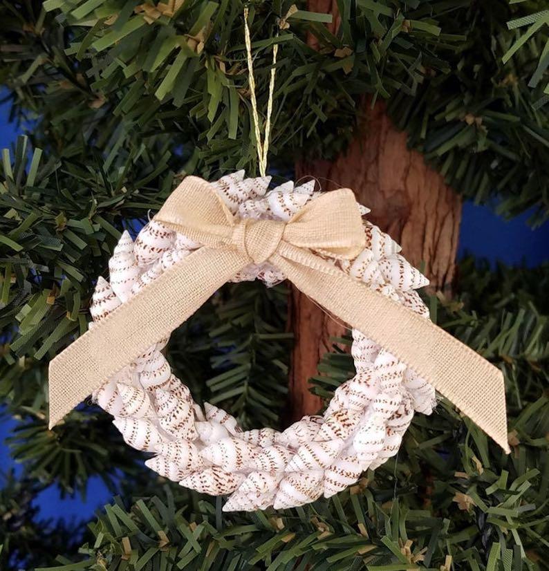 Handmade Shell Wreath /  Beachy Ornaments