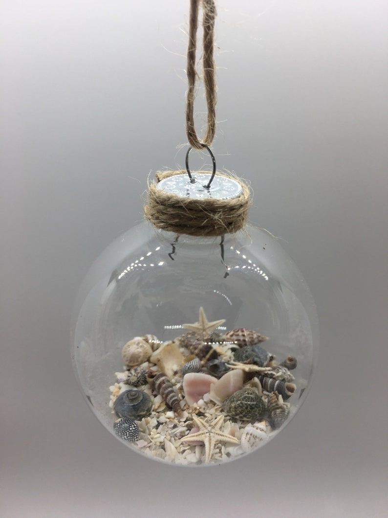 Shell, Sand & Starfish Christmas Ornament