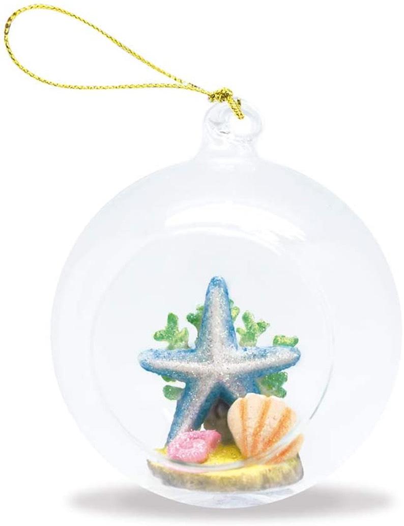 Hawaiian Starfish Hand-Painted Glass Globe