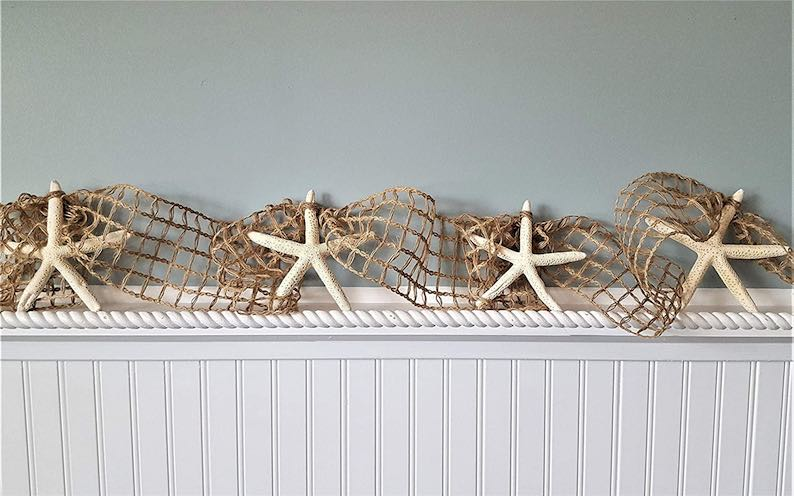 Starfish Christmas Garland for Beach Christmas Decorations