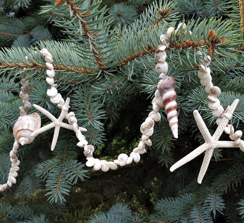 Beach Christmas Seashell Garland
