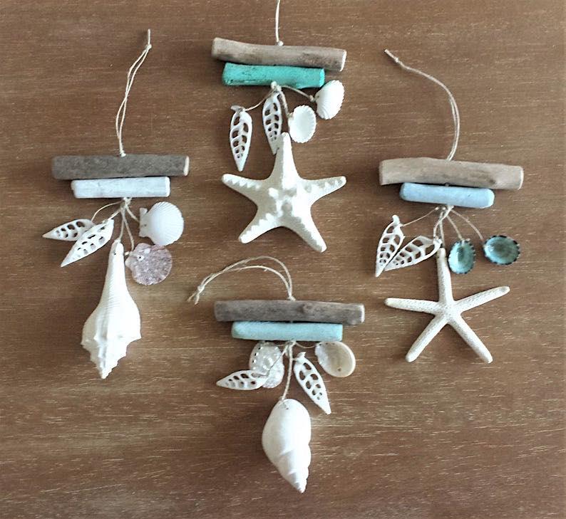 Starfish & Driftwood Coastal Ornament