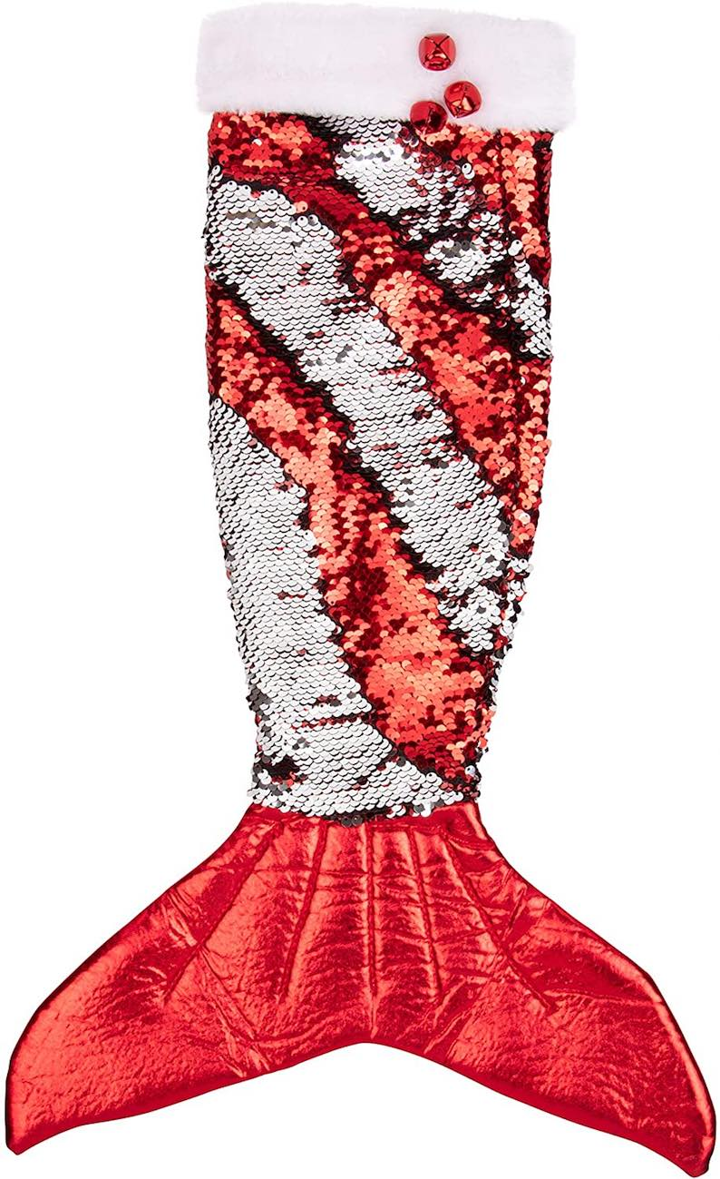 erry Mermaid with Reversible Sequins Christmas Stocking