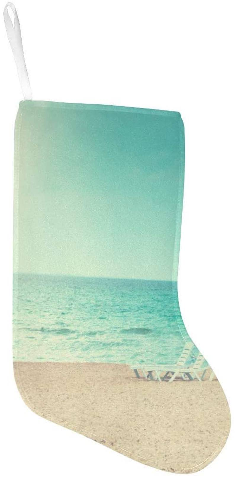 Beach Loungers Chairs Under The Bright Sun Christmas Stocking