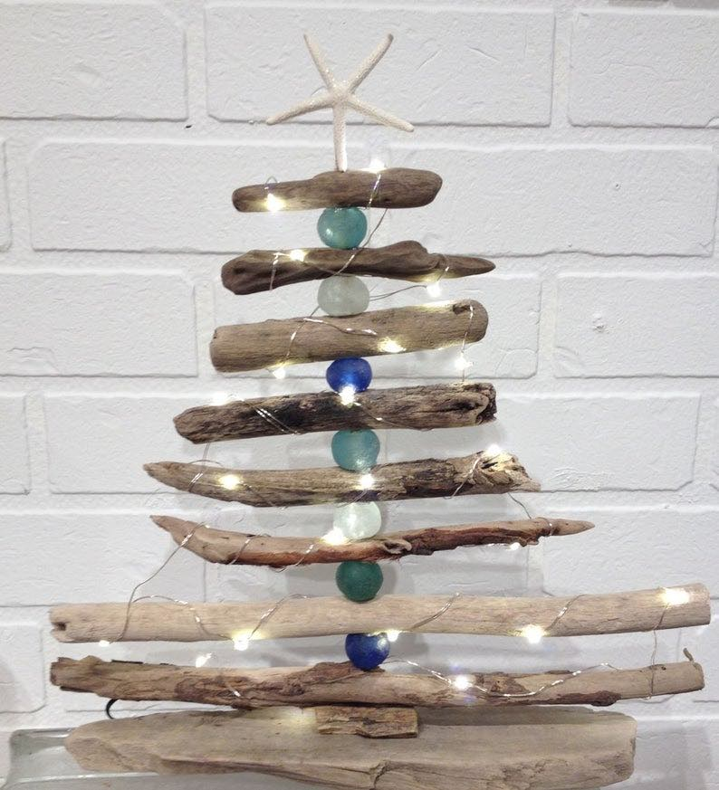Driftwood Tree with Lights