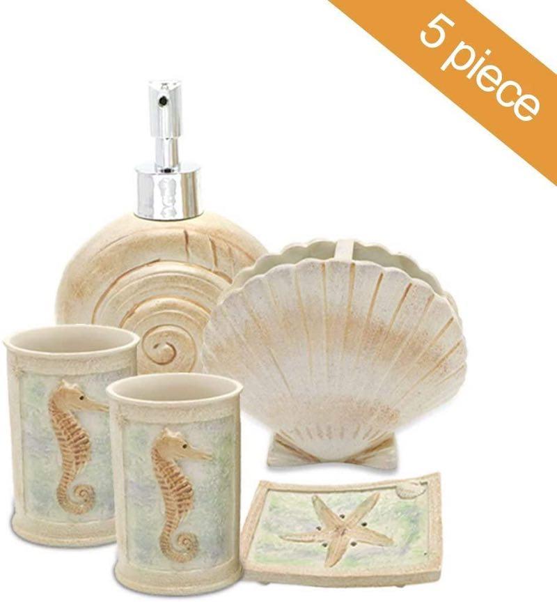 5 PCS Beach Seashells Ensemble