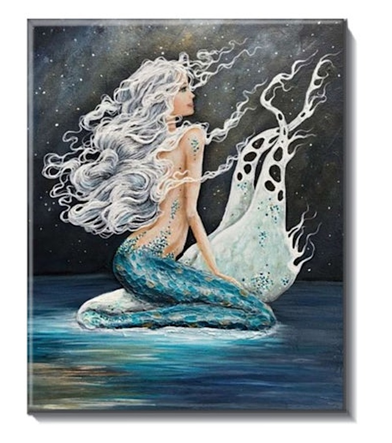 Mermaid Hanging Tile Art