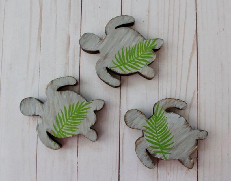 Wooden Sea Turtle Wall Art