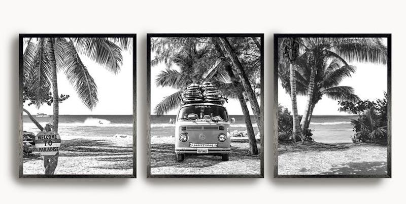 Vintage Black & White Coastal Wall Art